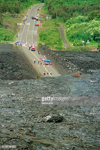 5/3/1990Kalapana HIAn oldfashioned cast iron bathtub survived the house it was in and rode a wave of lava from the Kilauea volcano in the Kalapana...