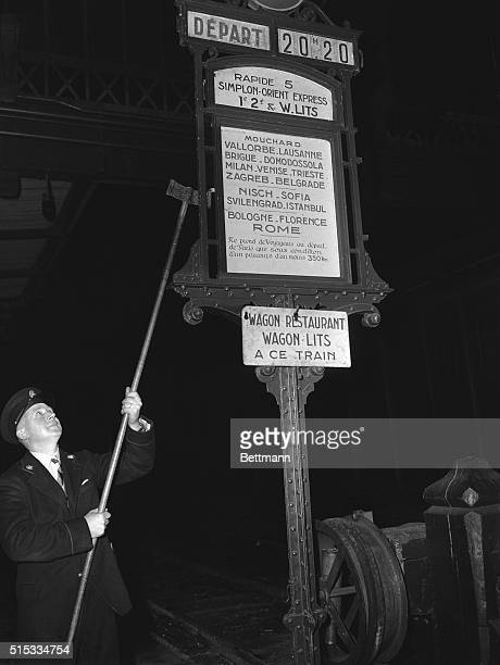 5/4/1951Paris France THE ORIENT EXPRESS Puling into Paris at last the SimplonOrient Express is immediately made ready for its return trip across the...