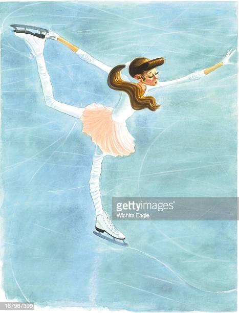 54p x 70p Tim Ladwig color illustration of female figure skater