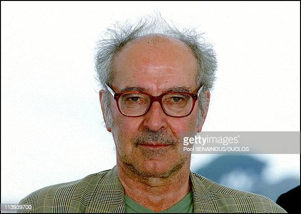 54th Cannes Festival Photocall of Eloge a l'Amour by JeanLuc Godard In Cannes France On May 15 2001JeanLuc Godard