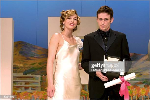 54th Cannes Film Festival Awards: Closing ceremony awards In Cannes, France On May 20, 2001-Millla Jovovich, Benoit Magimel.