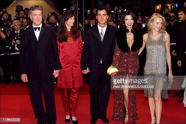 54th Cannes film festival stairs of Mulholland Drive by David Lynch In Cannes France On May 16 2001LtoRDavid Lynch Justin Theroux Laura Elena Harring...
