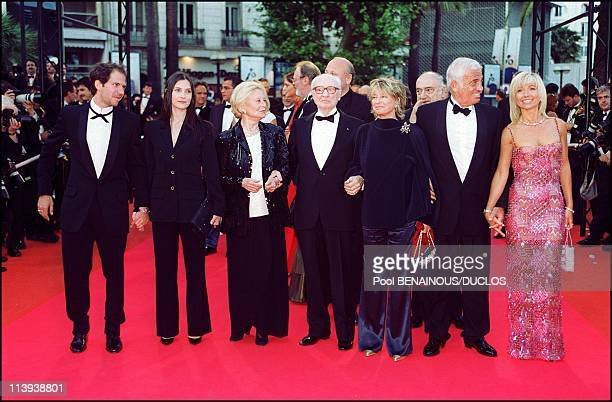 54th Cannes film Festival stairs of Roberto succo by Cedric Khan In Cannes France On May 14 2001Christopher Thompson Geraldine Pailhas Michelle...