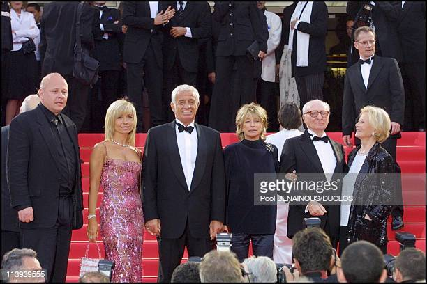54th Cannes film Festival stairs of Roberto succo by Cedric Khan In Cannes France On May 14 2001Natty and JeanPaul Belmondo Danielle Thompson Gerard...
