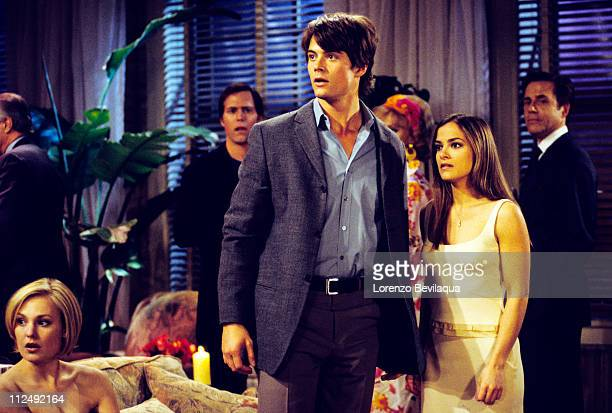 CHILDREN 5/5/01Laura Leo and Greenlee at Leo and Greenlee's engagement party on Walt Disney Television via Getty Images Daytime's All My Children All...