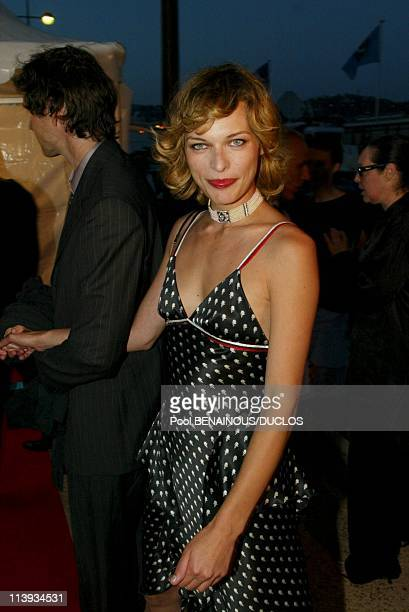 55th Cannes film festival Georgio Armani's party In Cannes France On May 21 2002Milla Jovovitch