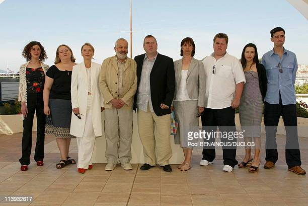 55th Cannes film festival Photocall of 'All or nothing' In Cannes France On May 17 2002Frome Left Helen Coker Alison Garland Lesley Manville Mike...