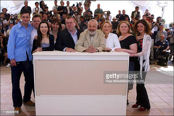 55th Cannes film festival Photocall of 'All or nothing' In Cannes France On May 17 2002From left Daniel Mays James Corden Sally Hawkins Ruth Sheen...