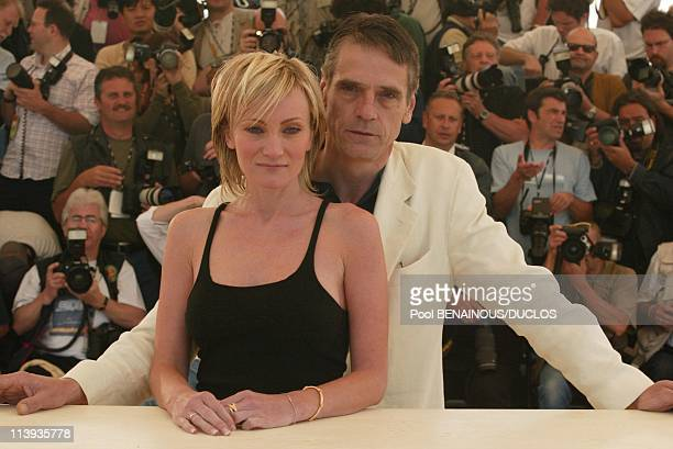 55th Cannes film festival Photocall of 'And NowLadies and Gentlemen' In Cannes France On May 26 2002Patricia Kaas Jeremy Irons