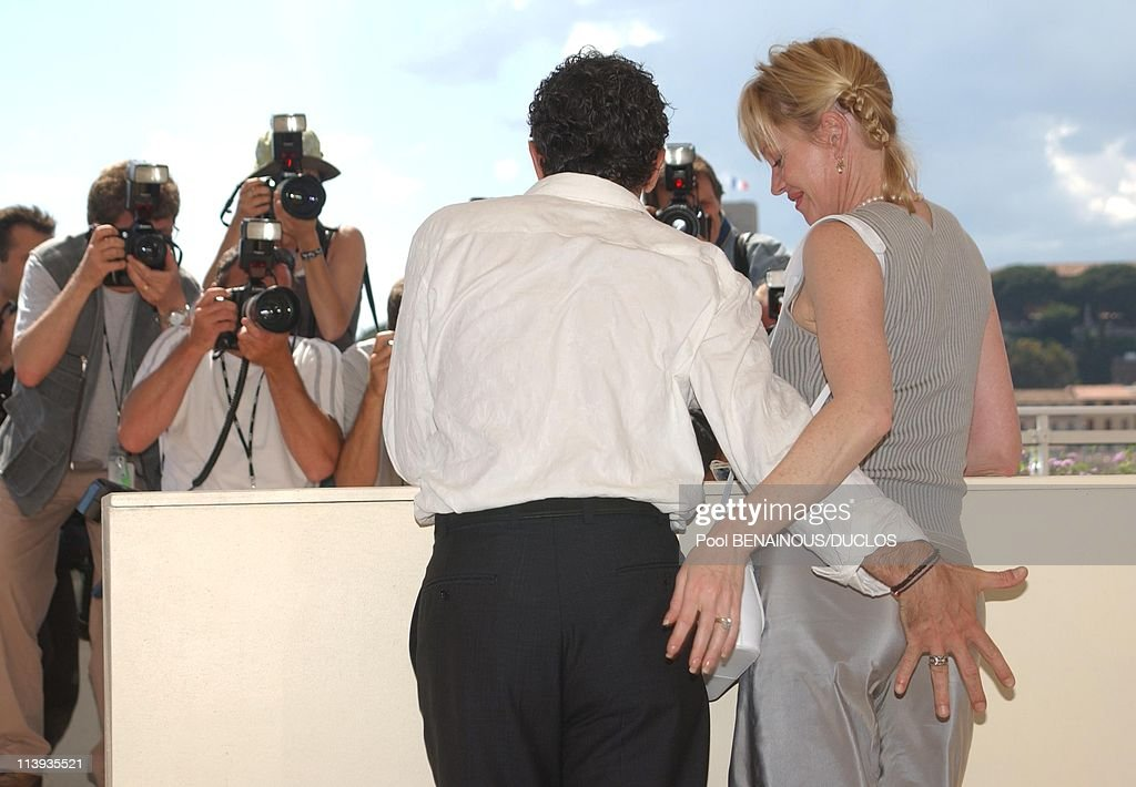 """55th Cannes film festival: Photo-call of """"Femme Fatale"""" with Antonio Banderas In Cannes, France On May 25, 2002- : News Photo"""