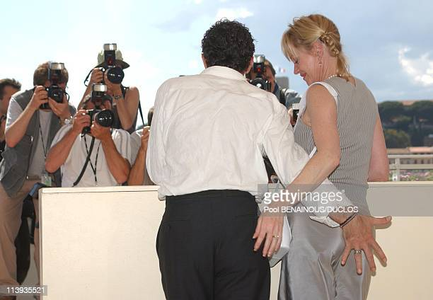55th Cannes film festival Photocall of 'Femme Fatale' with Antonio Banderas In Cannes France On May 25 2002Antonio Banderas and Melanie Griffith
