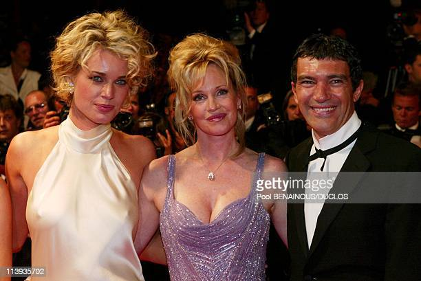 55th Cannes film festival Stairs of 'Femme Fatale' In Cannes France On May 25 2002Rebecca RomijnStamos Antonio Banderas Melanie Griffith