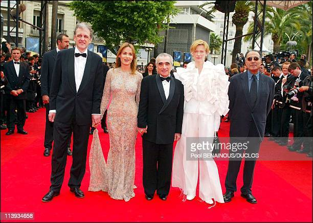 55th Cannes film festival Stairs of 'Mies Vailla Menneisyytta' In Cannes France On May 22 2002Jan Schutte Judith Godreche Martin Scorsese Tilda...