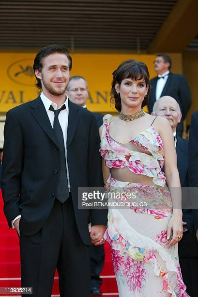 55th Cannes film festival Stairs of 'Murder by Numbers' In Cannes France On May 24 2002Ryan Gosling Sandra Bullock