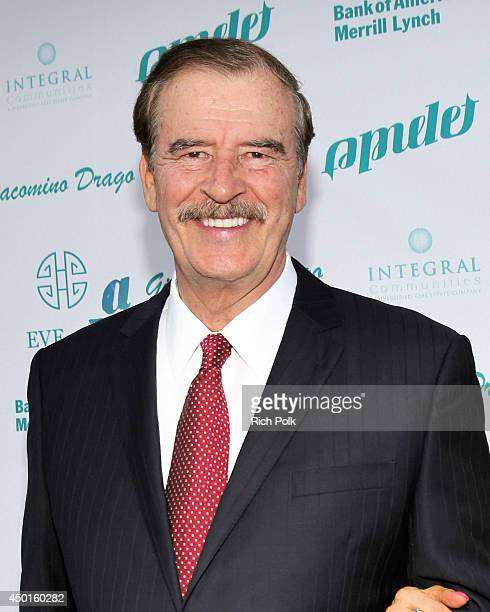 55th President of Mexico Vicente Fox attends LA UNCOVERED An Evening Benefiting A Better LA at Siren Cube on June 5 2014 in Los Angeles California