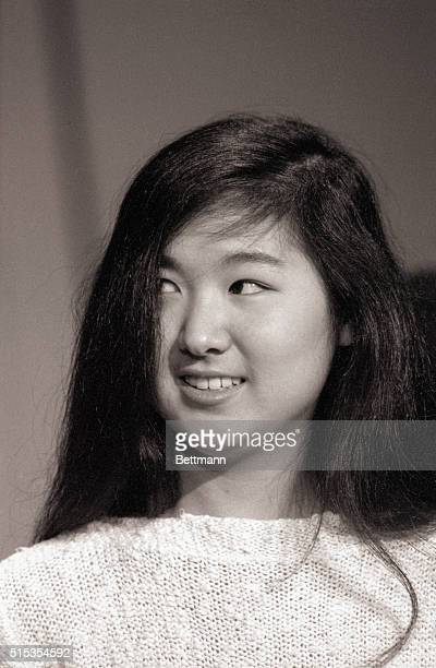 5/6/1981Washington DC Headshot of Maya Ying Lin the Yale architecture student who made the winning design for the Vietnam Veteran's Memorial which...