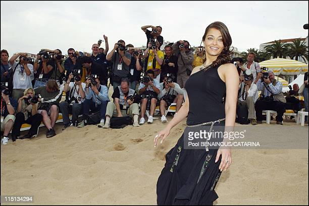 56th Cannes Film Festival Photocall of Aishwarya Rai in Cannes France on May 17 2003