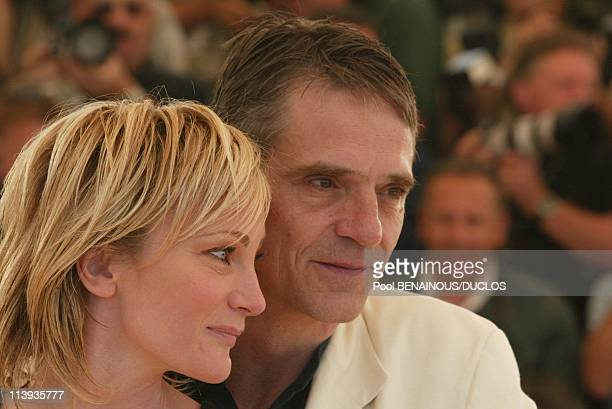 56th Cannes film festival Photocall of 'And NowLadies and Gentlemen' In Cannes France On May 26 2002Patricia Kaas Jeremy Irons