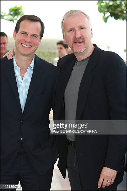 """56th Cannes Film Festival: Photo-call of """"Ghosts of the Abyss"""" in Cannes, France on May 18, 2003 - Bill Paxton, James Cameron."""