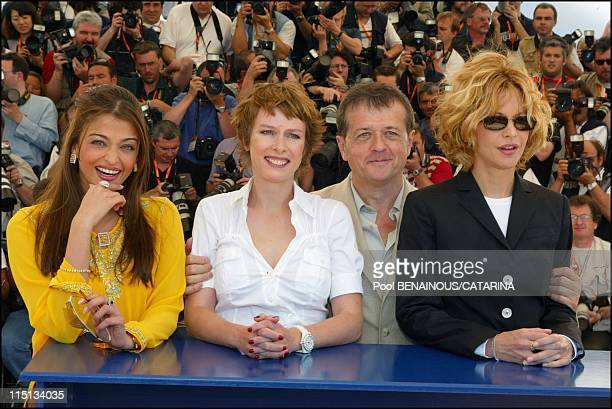 56th Cannes Film Festival PhotoCall of Jury in Cannes France on May 14 2003 Aishwarya Rai Karin Viard Patrice Chereau Meg Ryan