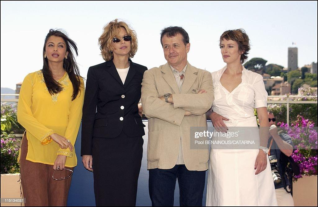 56th Cannes Film Festival PhotoCall of Jury in Cannes France on May 14 2003 Aishwarya Rai Meg Ryan Patrice Chereau Karin Viard