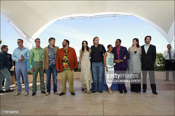 56th Cannes Film Festival PhotoCall of 'The Matrix Reloaded' in Cannes France on May 15 2003 left from right Neil and Adrian Rayment Lambert Wilson...