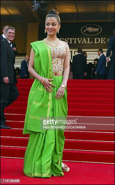 56th Cannes Film Festival Stairs of Dogville in Cannes France on May 19 2003 Aishwarya Rai