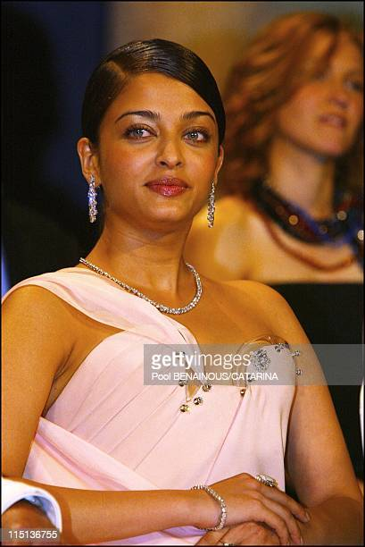 56th International Cannes Film Festival Palm awards ceremony in Cannes France on May 25 2003 Aishwarya Rai