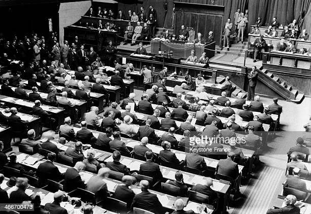 56th session of the League of Nations on September 4, 1929 in Geneva, Switzerland.