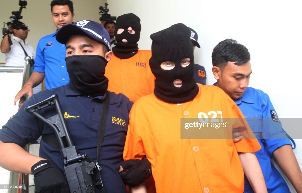 German and Britsh nationals arrested on drug charges in Bali