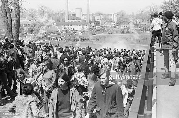 5/7/1970Kent OH Kent State University students disperse as tear gasfiring National Guardsmen follow in pursuit on the university's campus May 4 Four...
