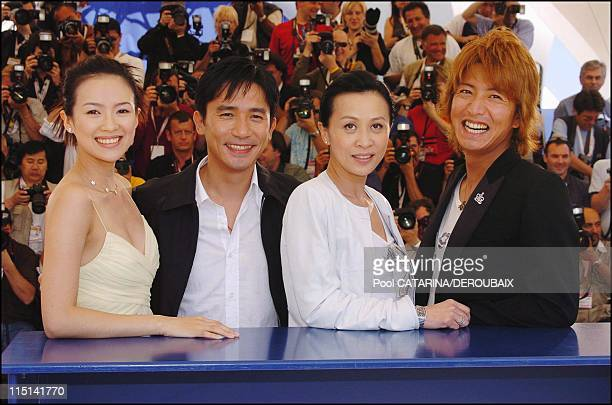 57th Cannes Film Festival Photocall '2046' in Cannes France on May 21 2004 Chinese actress Zhang Ziyi Hong Kong actor Tony Leung Hong Kong actress...