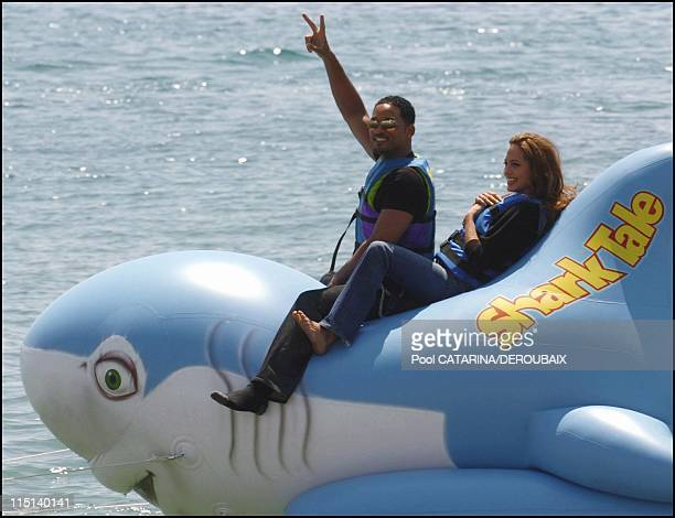 57th Cannes Film Festival Photocall of Shark Tale in Cannes France on May 14 2004 Will Smith Angelina Jolie voices for the animated film Shark tale...