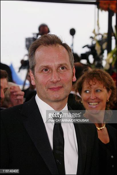 57th Cannes Film Festival stairs for the screening of 'Troy' in Cannes France on May 13 2004 Hyppolite Girardot