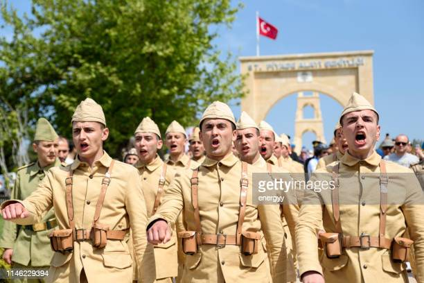 57th infantry in gallipoli, çanakkale - anzac soldier stock pictures, royalty-free photos & images
