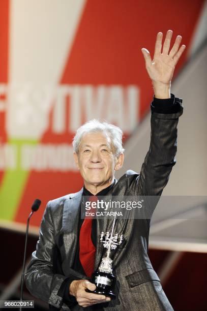 57th San Sebastian Internationnal Film Festival British actor Sir Ian McKellen receive the Premio Donostia Award for Lifetime Achievement Career