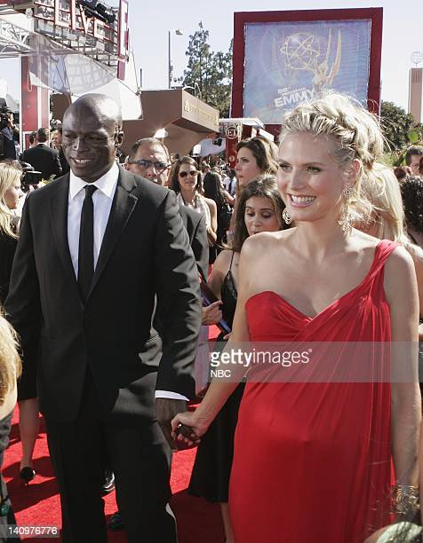 THE 58th ANNUAL PRIMETIME EMMY AWARDS Pictured Seal and Heidi Klum wearing a Michael Kors gown arrive at The 58th Annual Primetime Emmy Awards at the...