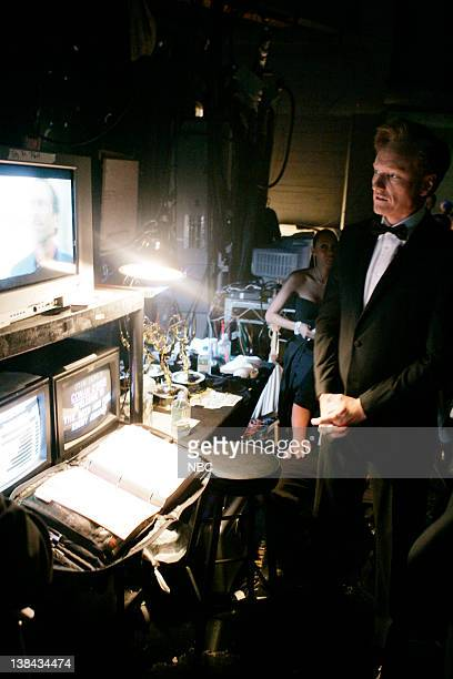 THE 58th ANNUAL PRIMETIME EMMY AWARDS Show Wing Pictured Conan O'brien by the show wing during The 58th Annual Primetime Emmy Awards at the Shrine...
