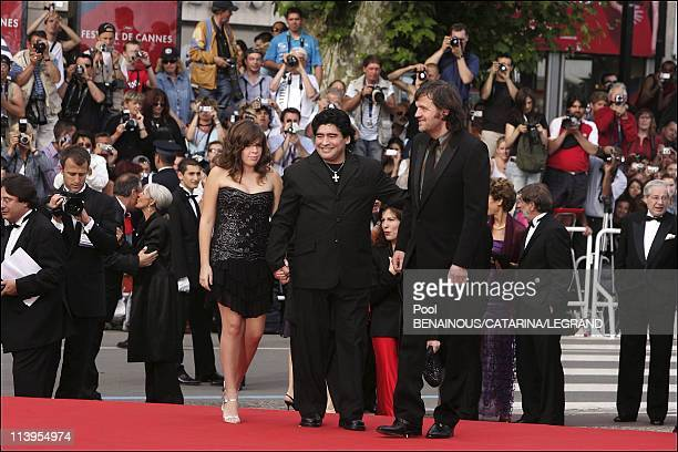 58th Cannes Film Festival Arrivals at the closing ceremony In Cannes France On May 21 2005Maradona daughter Dalma and president of the jury Emir...