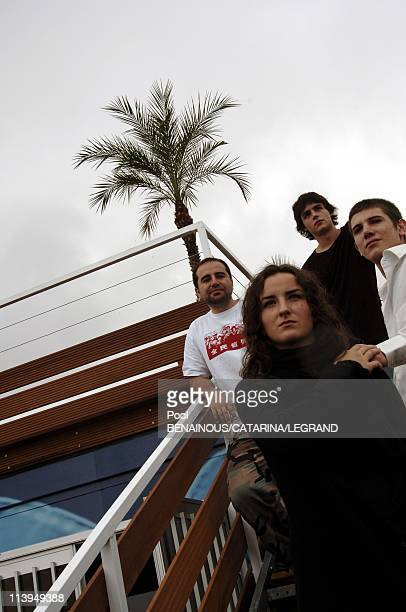 58th Cannes Film Festival cast of Douche Froide a film by Antony Cordier In Cannes France On May 14 2005Antony Cordier Salome Stevenin Johan Libereau...