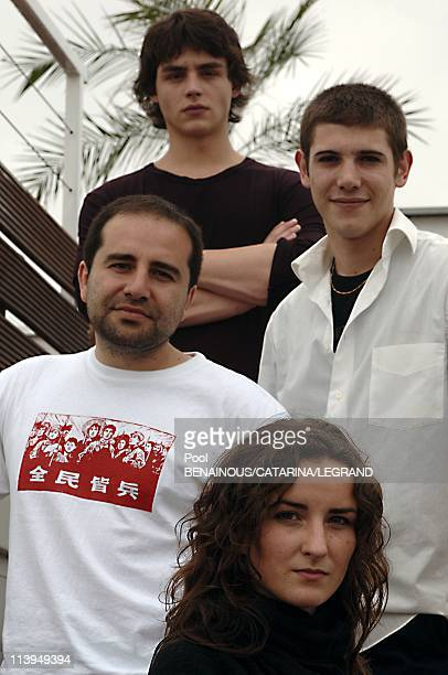 58th Cannes Film Festival cast of Douche Froide a film by Antony Cordier In Cannes France On May 14 2005 Antony Cordier Salome Stevenin Johan...