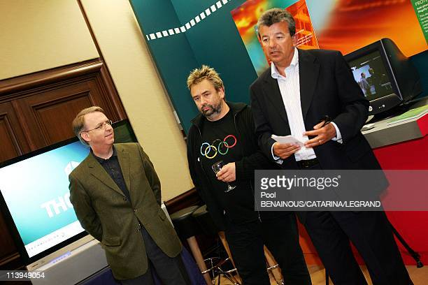 58th Cannes Film Festival Quinta and Thomson Back Luc Besson's la cite du cinema project In Cannes France On May 14 2005Franck Dangeard Luc Besson...