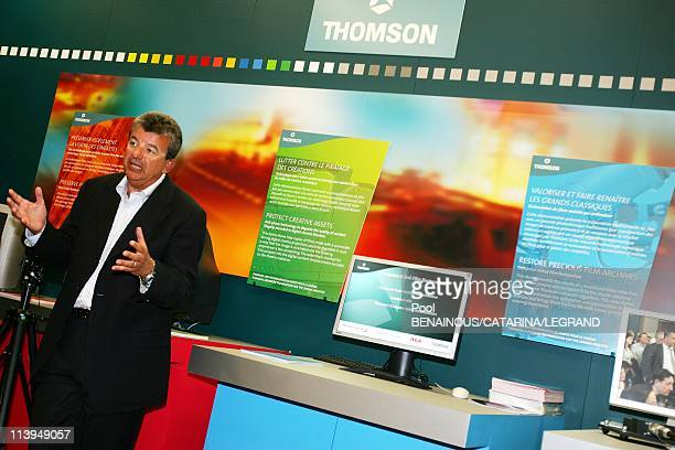 58th Cannes Film Festival Quinta and Thomson Back Luc Besson's la cite du cinema project In Cannes France On May 14 2005Tarak Ben Ammar