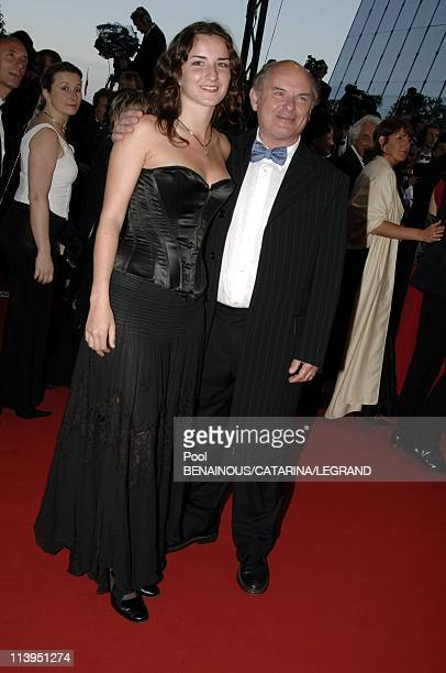 58th Cannes Film Festival Stairs of 'Joyeux Noel' in Cannes France On May 16 2005JeanFrancois Stevenin and his daughter Salome