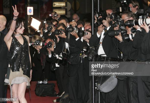 58th Cannes Film Festival Stairs of Last days In Cannes France On May 13 2005Asia Argento