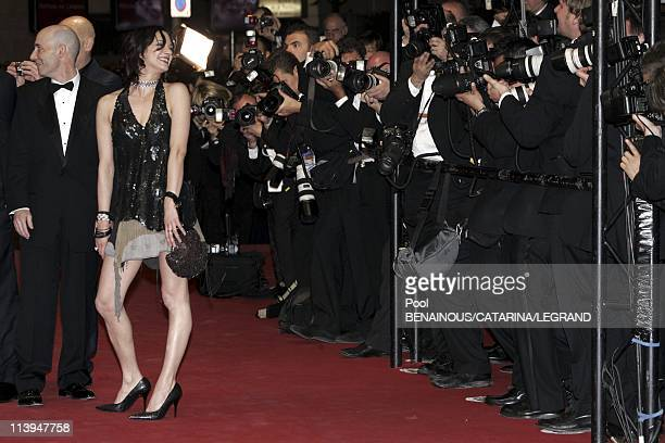 58th Cannes Film Festival Stairs of Last days In Cannes France On May 13 2005Dany Wolf and Asia Argento
