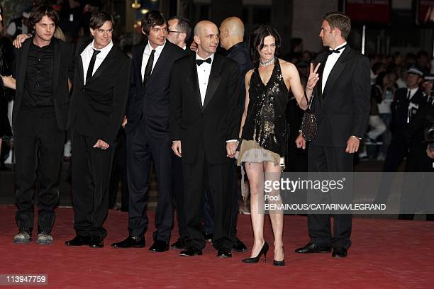 58th Cannes Film Festival Stairs of ' Last days' In Cannes France On May 13 2005Cast of ' Last days' Michael Pitt Gus Van Sant Dany Wolf Lukas Haas...