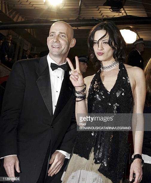 58th Cannes Film Festival Stairs of Last days In Cannes France On May 13 2005Asia Argento and Dany Wolf