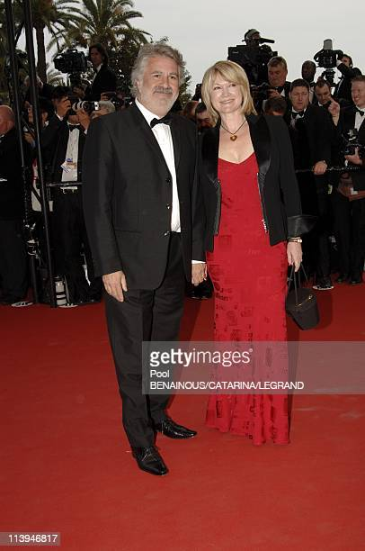 """58th Cannes Film Festival: Stairs of """"Lemming"""" in Cannes, France On May 11, 2005-Roland Magdane and his wife"""