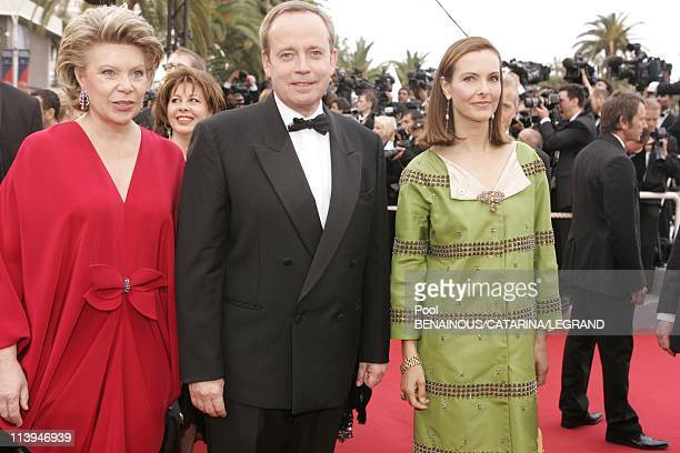 58th Cannes Film Festival Stairs of 'Lemming' In Cannes France On May 11 2005Vivianne Reding Renaud Donnedieu de Vabres and Carole Bouquet Carole...